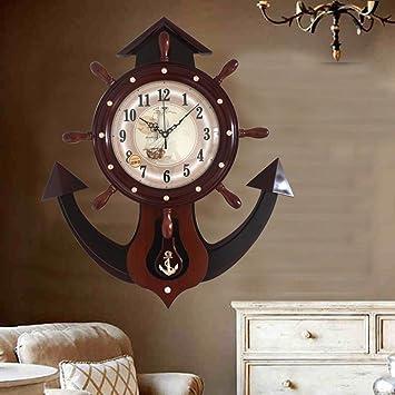 figtin geagle Modern Art - Reloj de péndulo Remo grande Salón Reloj de pared madera Relojes, 20 pulgadas, 20 inches, Brown Wood Color: Amazon.es: Hogar