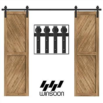 winsoon puerta corrediza de granero madera Hardware armario de ...