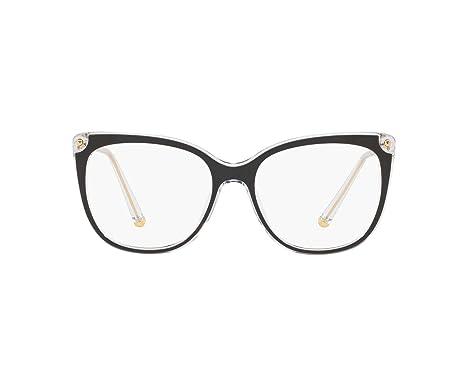 Amazon.com: Dolce & Gabbana Lucia DG 3294 Black Crystal 52 ...
