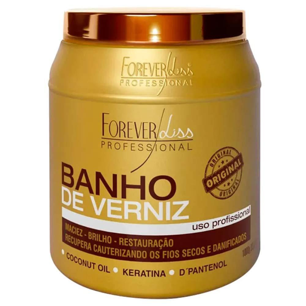 Forever Liss Banho de Verniz Brilho Hidratante Brazilian Keratin Treatment Coconut Oil (1kg)