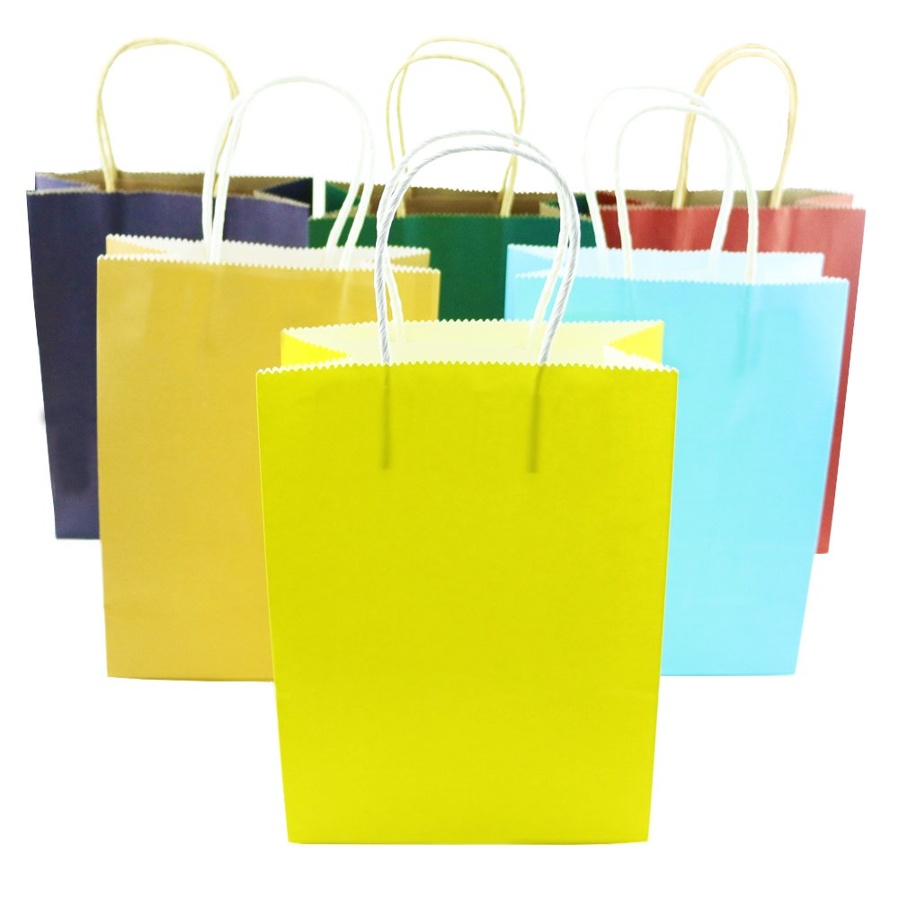 Decoration Event Supplies Fyess 16 PCS 11 Party Gift Bags Rainbow Assortment String Handles Birthday Favors Birthday Party Crafts,Rainbow Birthday Party Supplies,Snacks Arts /& Crafts