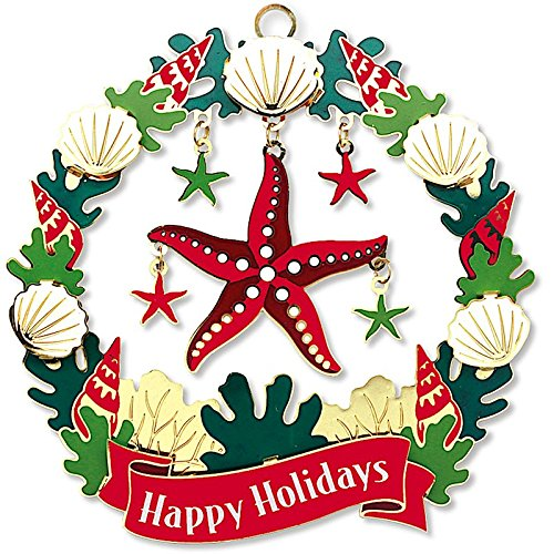 Island Heritage Hawaiian Holiday Star Metal Die Cut Christmas Ornament