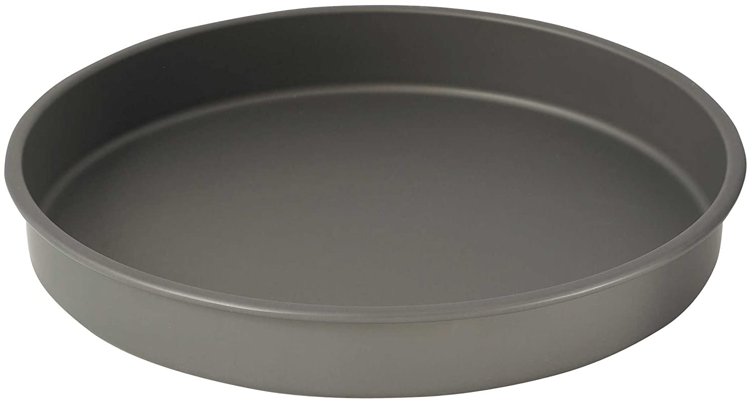 Winco HAC-142 Round Cake Pan, 14-Inch, Hard Anodized Aluminum, Black Winco USA