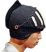 Per una idea regalo originale prova a vedere questo cappello di lana a forma di elmo di cavaliere !