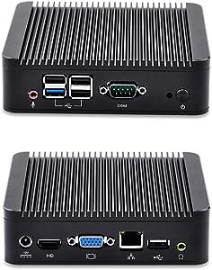 Cheapest Barebones fanless Mini pc with Quad Core J1900 Baytrail CPU Qotom-Q190n