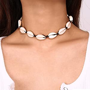 Ladies Choker Necklace Natural Stone bead Handmade Cord Choker NEW