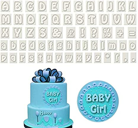 Amazing 64 Pcs Alphabet Cookie Cutter Plastic Letters Fondant Cutters With Funny Birthday Cards Online Hendilapandamsfinfo