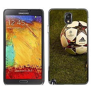 Fútbol Fútbol - Metal de aluminio y de plástico duro Caja del teléfono - Negro - Samsung Note 3 N9000