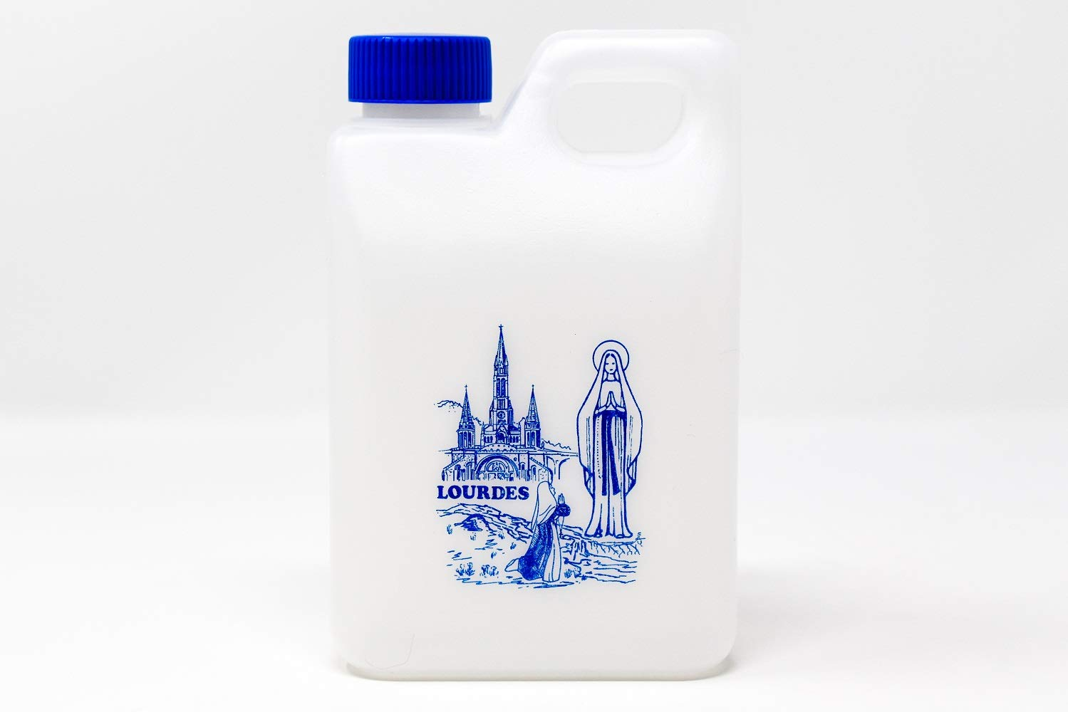 Lourdes holy water container 0.75 liters (0.2 gallons) - filled with Lourdes water