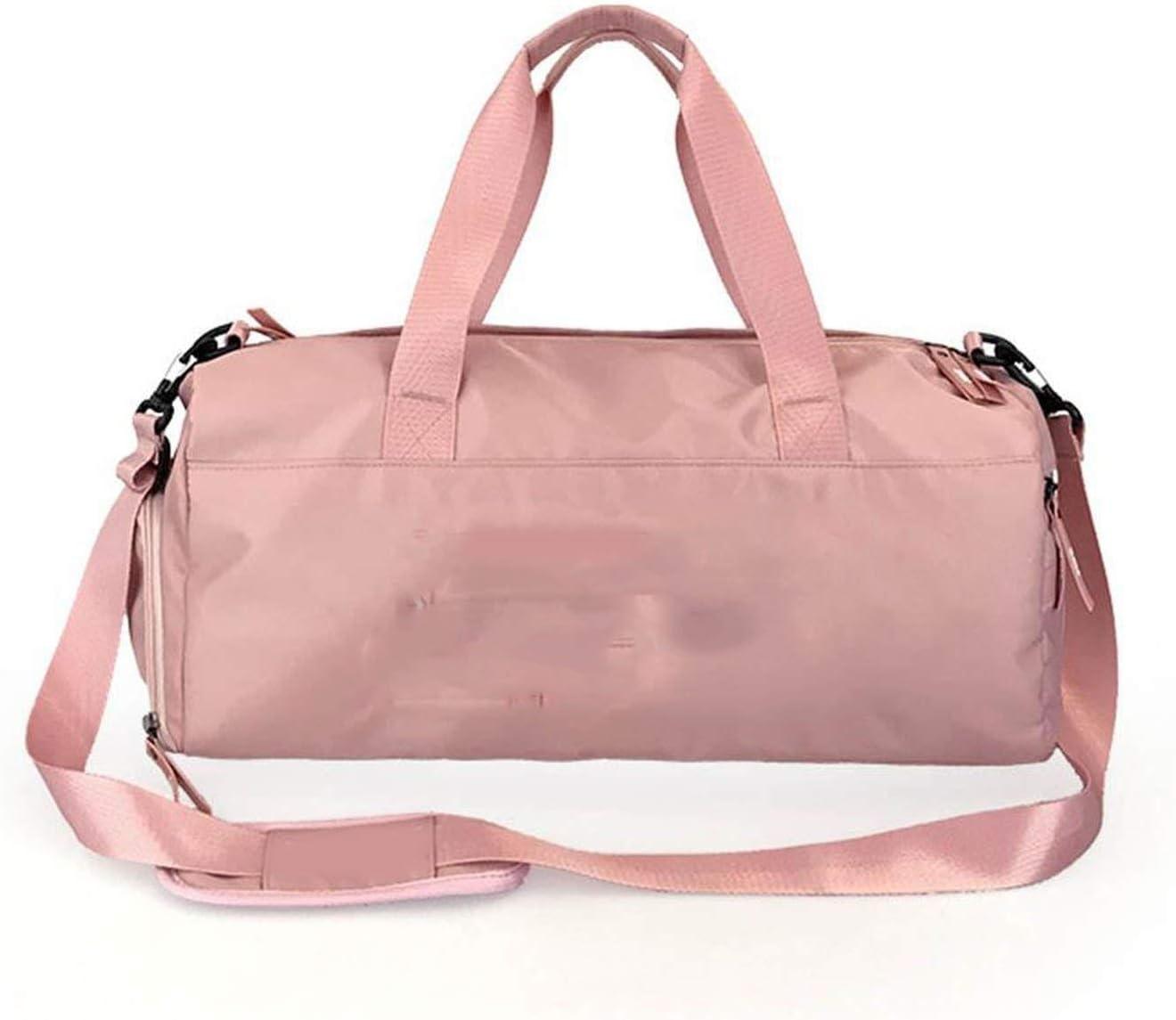 Women Travel Bagmen Women Waterproof Handbag Exercise Fitness Travel Bag Pink Color Sequins Shoulder Bags Portable Large Capacity Messenger Bag,Pink Silver Sequins