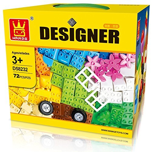 Little Builder Designer building blocks for toddlers Building Bricks Toy, 72 Large - Designer Toddler