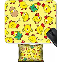 MSD Mouse Wrist Rest and Small Mousepad Set, 2pc Wrist Support design: 10195928 seamless chicken pattern