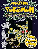 img - for Amazing Pokemon Coloring Book For Kids and Adults: 40 Designs of Best Pokemons using patterns, swirls, mandalas, flowers and leaves on Black Paper. (Unofficial Nights Edition) (Volume 1) book / textbook / text book