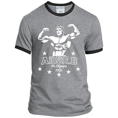 e86e5edc Arnold Schwarzenegger Men's Bodybuilding T Shirt Muscle Workout Gym Shirts  (Small, Athletic Heather/