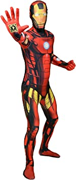 Morphsuits - Disfraz iron man adultos, talla XL (MLZIRX): Amazon.es ...