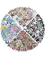 molshine 200 stuks vinyl waterdichte stickers, kleurrijke panda, luiaard, walvis, kattenstickers voor doe-het-zelf, planner, laptops, skateboards, bagage, gitaar, bumpers, fietsen, boeken, waterflessen