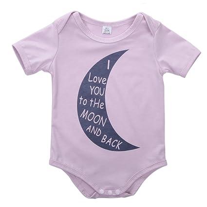 WANGSAURA WANGSAURA bebé niños niñas una pieza manga corta algodón Pelele Body negro rosa Talla: