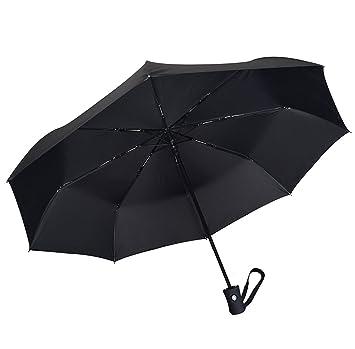 taille 40 b5f39 b5b6c Coomatec Parapluie Pliant - Solide Incassable - Résistant Au Vent -  Ouverture et Fermeture Automatique - Noir Classique de Voyage Parapluies  Pliable ...