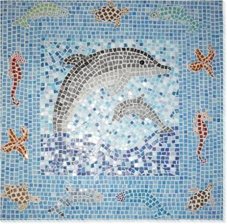 Glasmosaik ~1450 Mosaiksteine 1x1cm 1000g Gr/ünmix