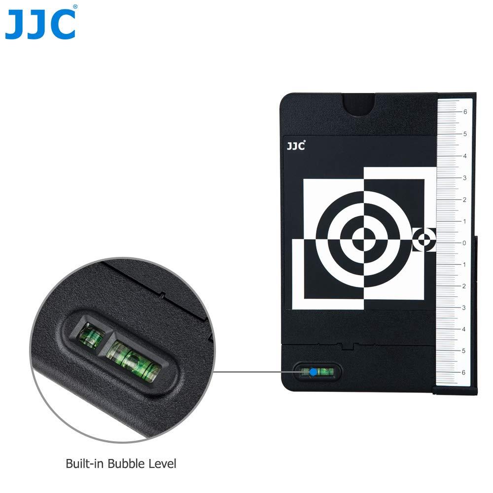 JJC Objectif Focus /Étalonnage Tool avec Carte de Balance des Couleurs pour Canon Nikon Sony Pentax Olympus etc Appareils Photo Professionnels