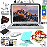6Ave Apple 13.3 MacBook Air 256GB SSD (MQD42LL/A) + iBenzer Basic Soft-Touch Series Plastic Hard Case & Keyboard Cover for Apple Macbook Air 13-inch 13 Turquoise + 3 Foot USB Cable 1 Meter Bundle