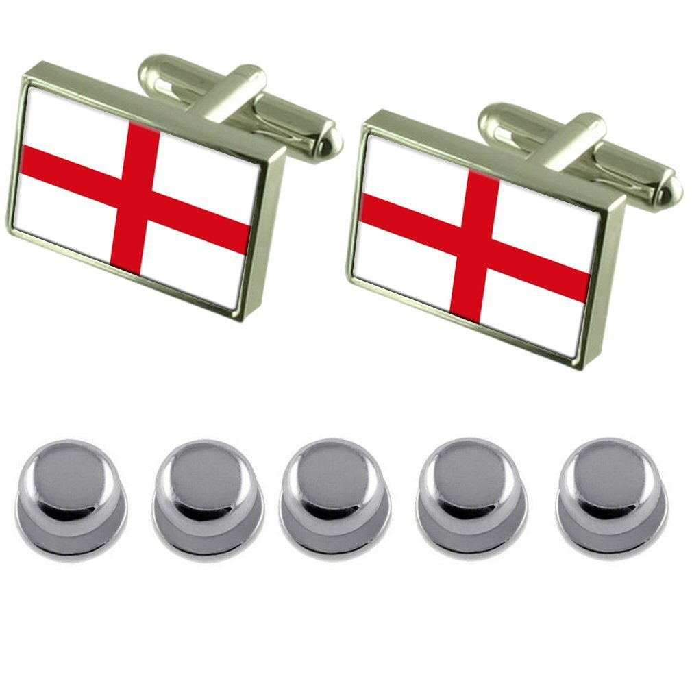 Select Gifts Shirt Dress Studs England St George/'s Cross Flag Cufflinks