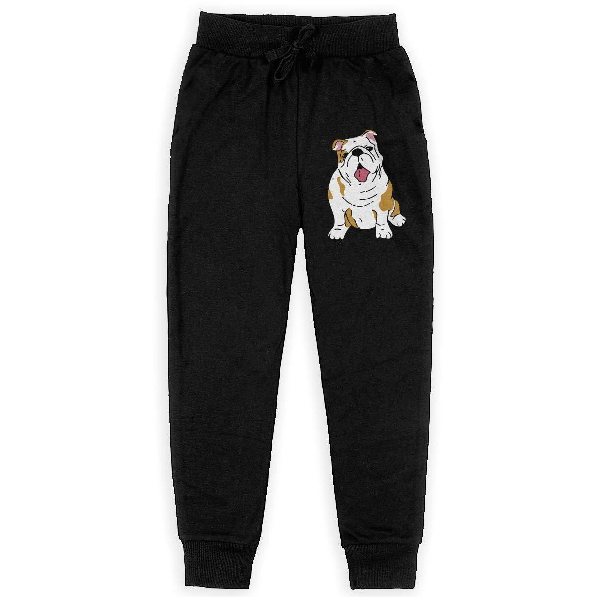 MAOYI/&J6 English Bulldog Long Sweatpants Juniors Boys Girls Jogger Trousers with Drawstring