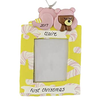 Amazoncom First Christmas Personalized Christmas Ornament Baby