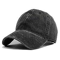 Unisex Vintage Washed Distressed Baseball-Cap Twill Adjustable Dad-Hat
