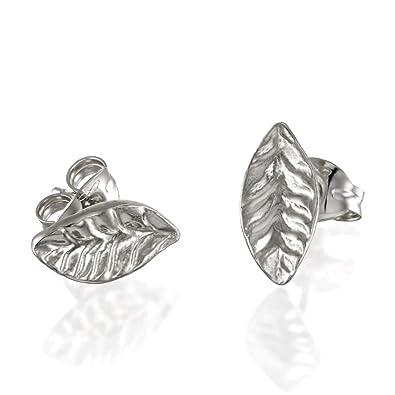 d803017a6e876 Amazon.com: Sivan Lotan Jewelry Leaf Earrings, Small Post Earrings ...