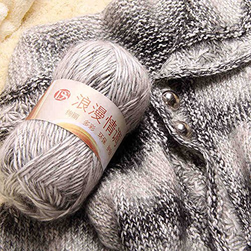 100g/skein multicolour Luxury Angora Mohair Cashmere Yarn Knitting Wool Yarn for Hand-knitted Scarf Hat Sweater Scarf Yarn (Mohair Luxury)