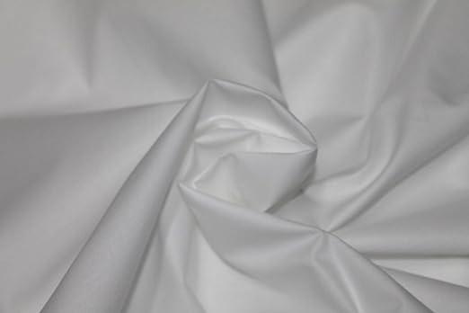 Tela algodón 100% blanco percal lanzuola ropa 100 x 320 cm ...