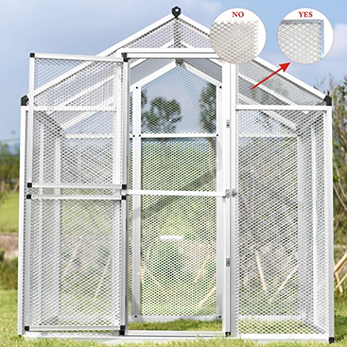 PANEY Large Aluminum Bird Cage Parrot Cockatiel Macare Walk In Aviary With Pegs Pet Supply