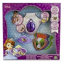 Princesa Sofía - Amuleto mágico, mini tiara y 8 tarjetas con voz (Giochi Preziosi 58638)