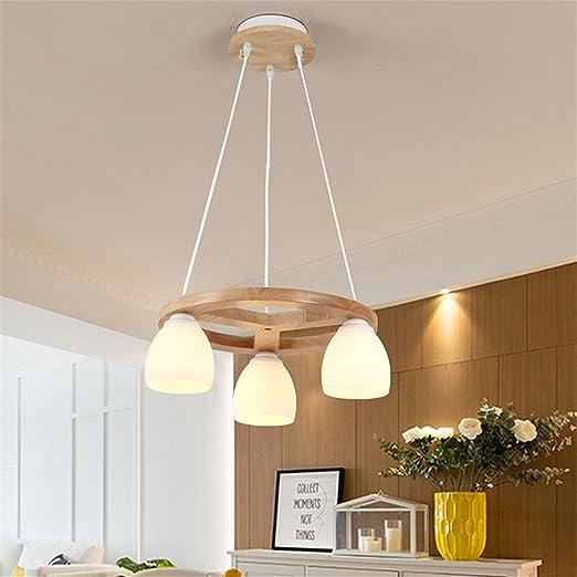 Shengye Style Rustique Plafonnier Lampe Suspension Lustre Bois
