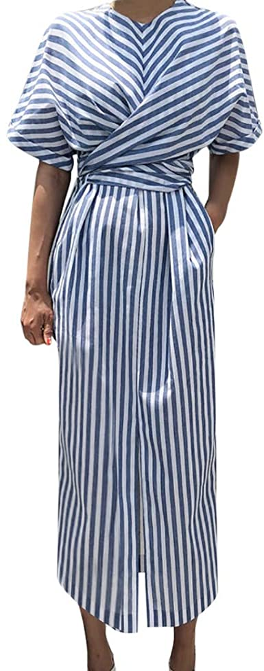 HCFKJ Faldas Mujer Vestido Largo Dividido Vestido Largo Dividido ...