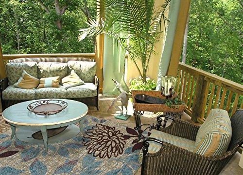 Mohawk Home Bella Garden Floral Indoor/ Outdoor Patio Printed Area Rug, 5'x8', Multicolor from Mohawk Home