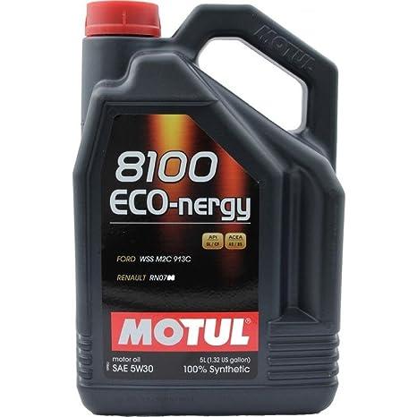 MOTUL Lubricante Eco-nergy 8100 5W-30, de 5 litros