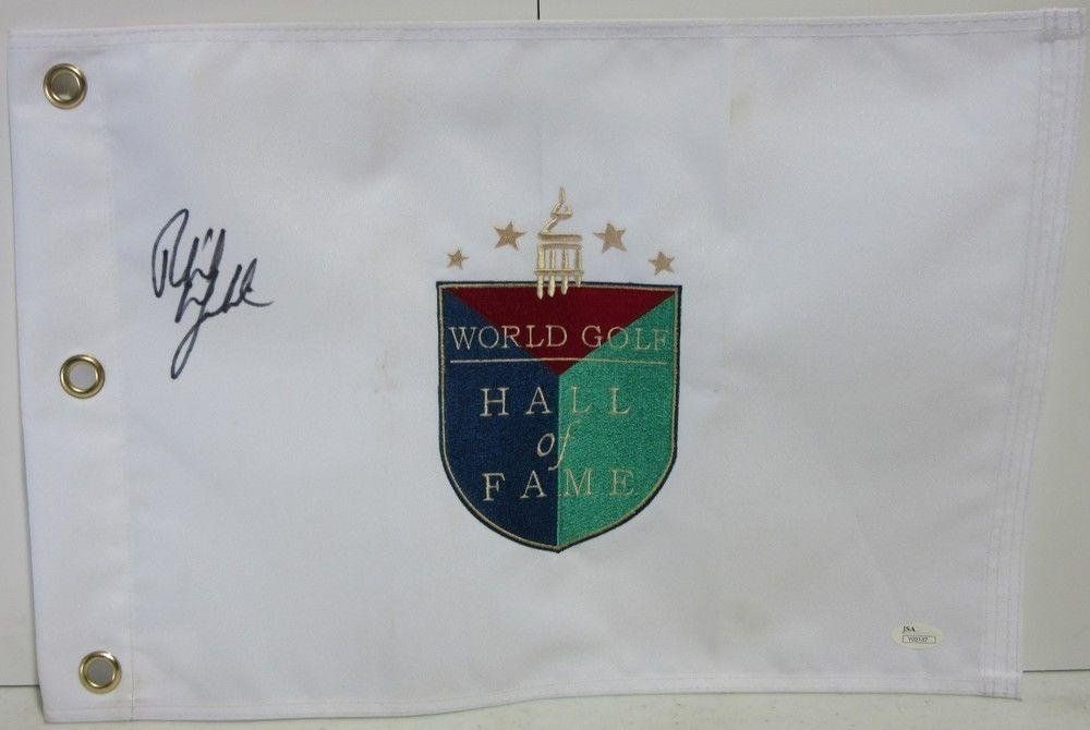 Phil Mickelson Signed Autographed World Golf Hall Of Fame Flag #y03137 JSA Certified Autographed Pin Flags