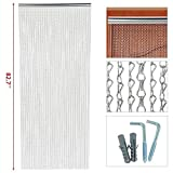 Cheap Topeakmart 83 x 35 inch Metal Chain Curtain Fly Pest Insect Door Screen Control Silver