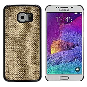 LECELL--Funda protectora / Cubierta / Piel For Samsung Galaxy S6 EDGE SM-G925 -- Fabric Rustic Fashion Simple Linen --