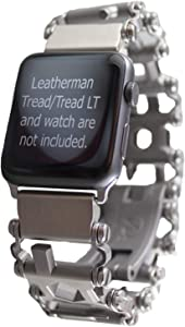 BestTechTool Watch Adapter Compatible with LEATHERMAN Tread LT - BTT Adapter (Compatible with Apple Watch 44mm/ 42mm, Stainless Steel, Tread LT)