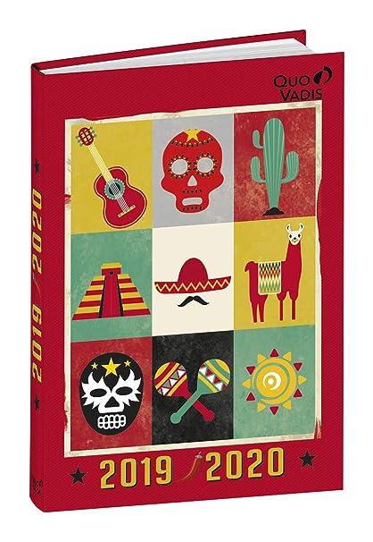 Agenda Escolar 1 Día/Página 2019-2020 México, 12x17cm ...