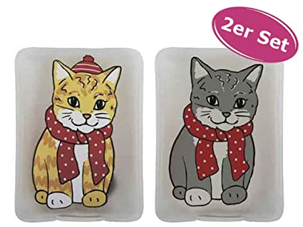 Set de 2 unidades de calentadores de bolsillo con diseño de gato (ideal