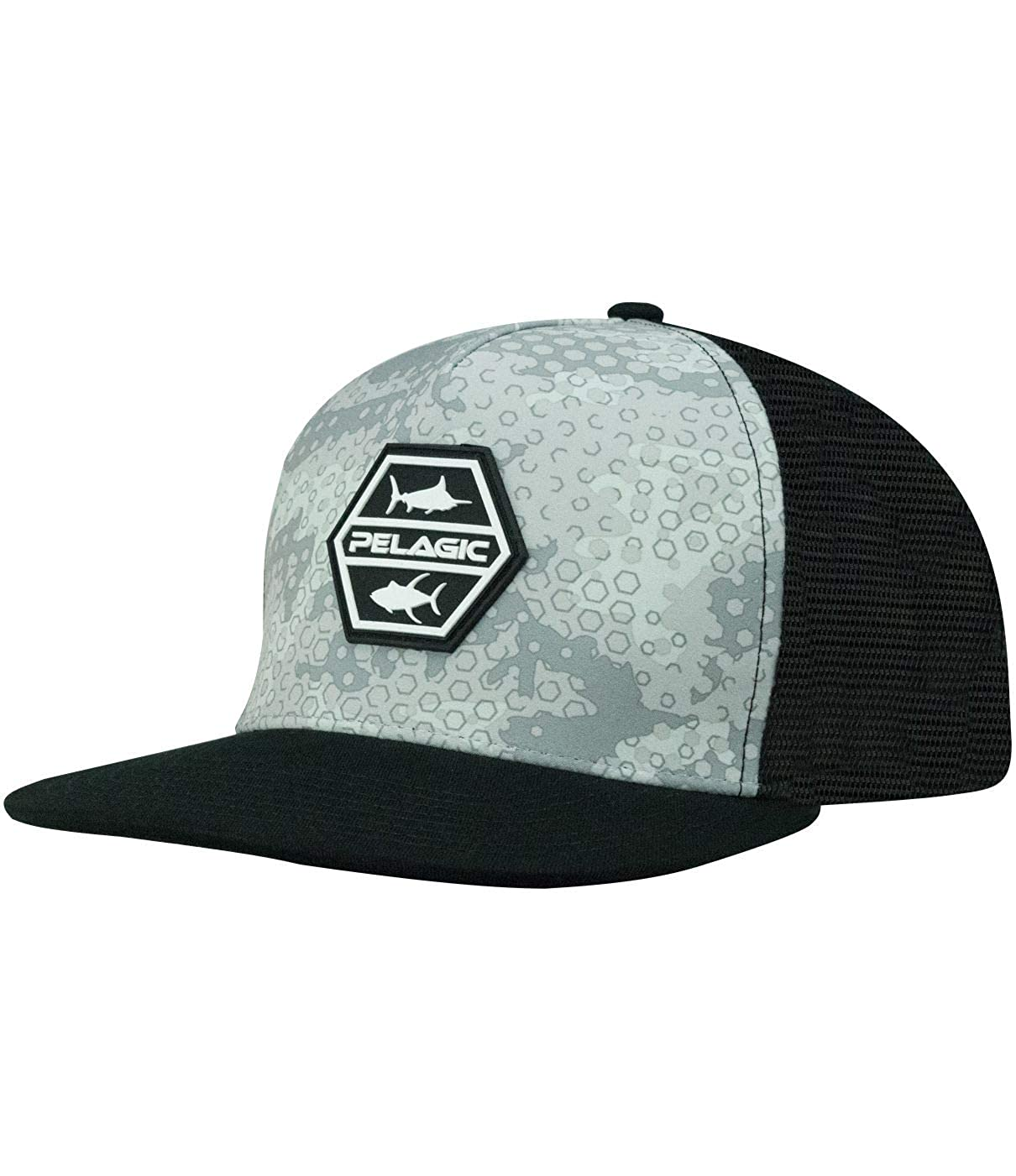 21ebeaaaa Amazon.com: Pelagic Men's Alpha Snapback Fishing Hat | Ambush Camo ...