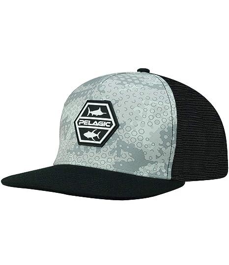aef2f0db61f68 Amazon.com  Pelagic Men s Alpha Snapback Fishing Hat