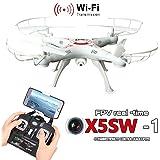 Malloom X5SW-1 Wifi FPV RTF 2.4G 4CH RC Negro quadcopter cámara Drone con HD cámara UAV, blanco