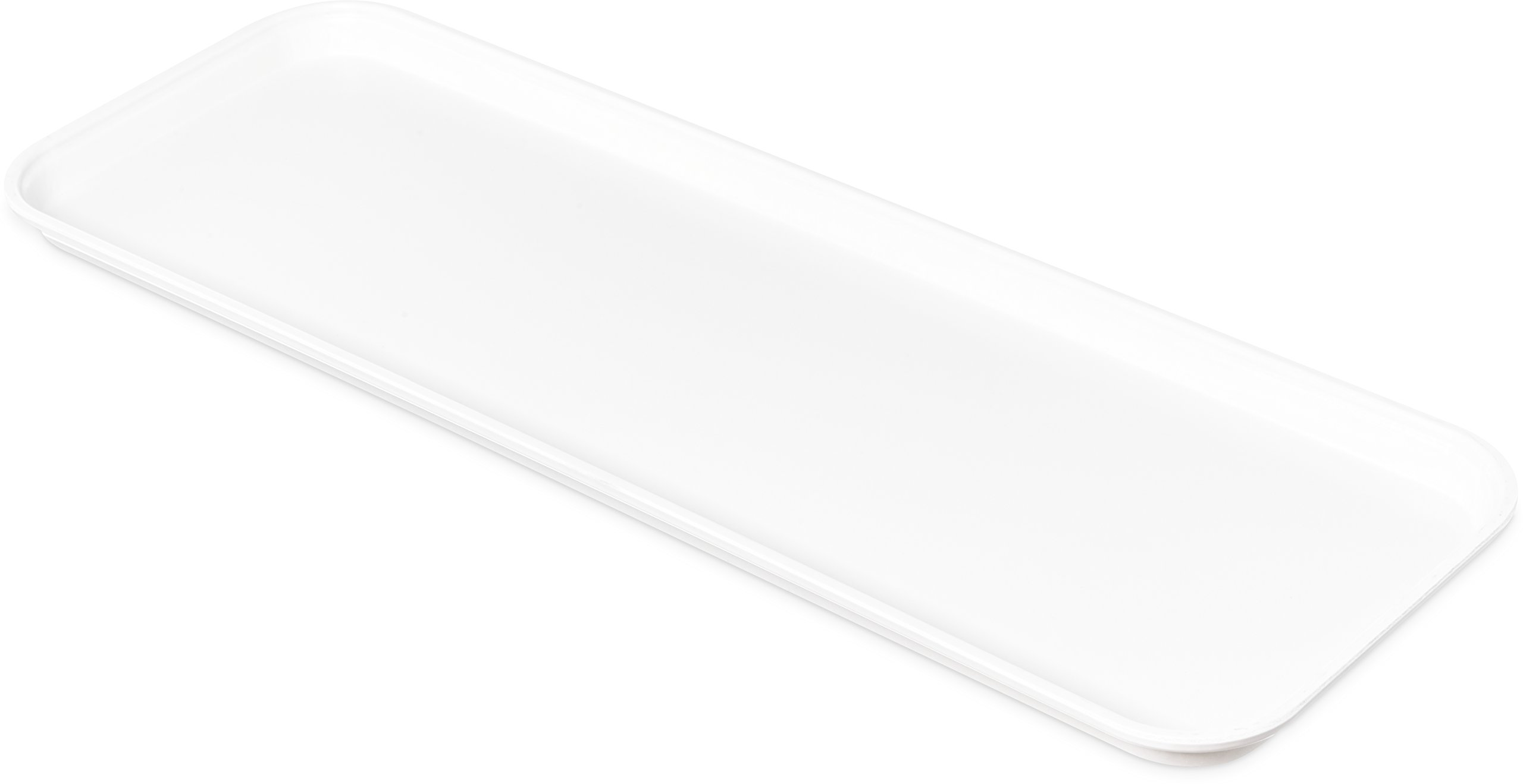 Carlisle 269FMT301 Food Service Display Tray, 9'' x 26'', White (Pack of 12)