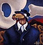 Art History Coyote Portraits of O'Keefe and Rivera