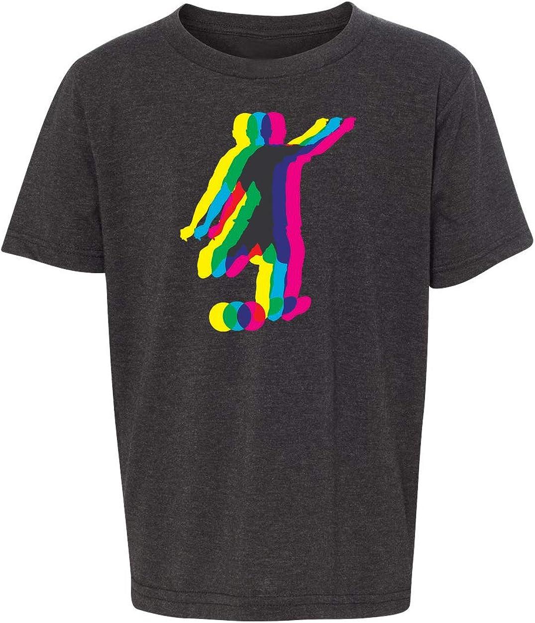 Soccer Player Kicking Ball Youth Soccer Shirt Graphic Sports T-Shirts